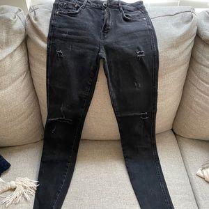 Zara black denim